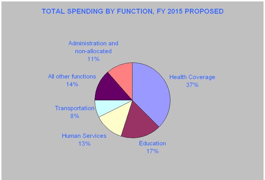 Budget Breakdown by Function 2015