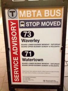 71 and 73  platform change