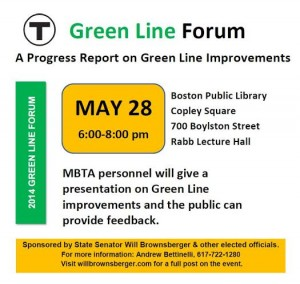 Green Line Forum flyer picture