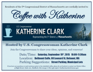 Katherine Clark Coffee Sept. 2015