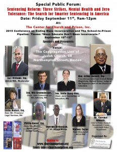 Mass Incarceration conference flyer September 2015