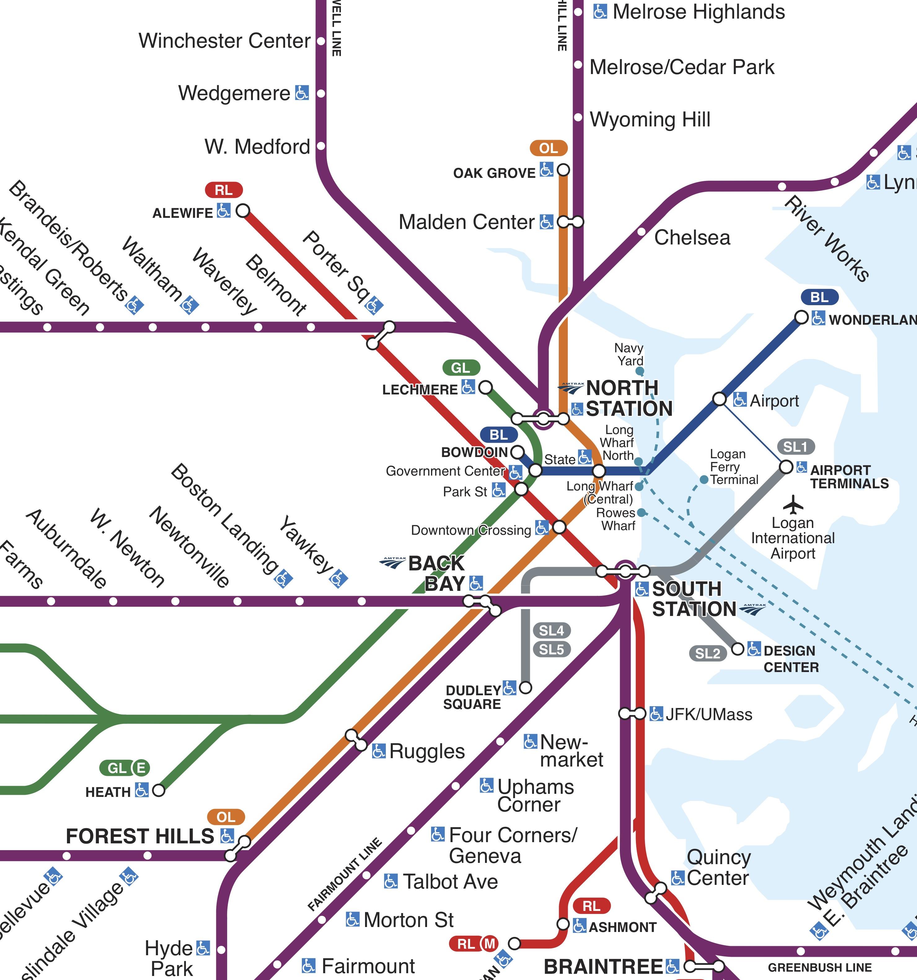 map of boston subway lines Rail Vision Study Underway Will Brownsberger map of boston subway lines